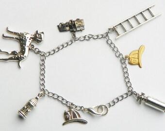 Firemans Bracelet firewomans bracelet firewomens bracelet fire dept bracelet firepersons bracelet womans bracelet charm bracelet adjustable