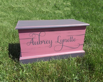 Custom Chest Toy Box. Personalized Chest, Hope chest, Memory Box.  Toybox. Personalize your wood chest with any verbiage.