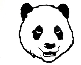 Panda Decal / Panda Window Decal / Panda Computer Laptop Decal / Panda Car Decal / Panda bear decal Panda wall decal Panda cell phone decal