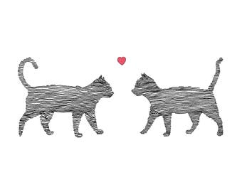 Cats in Love Card