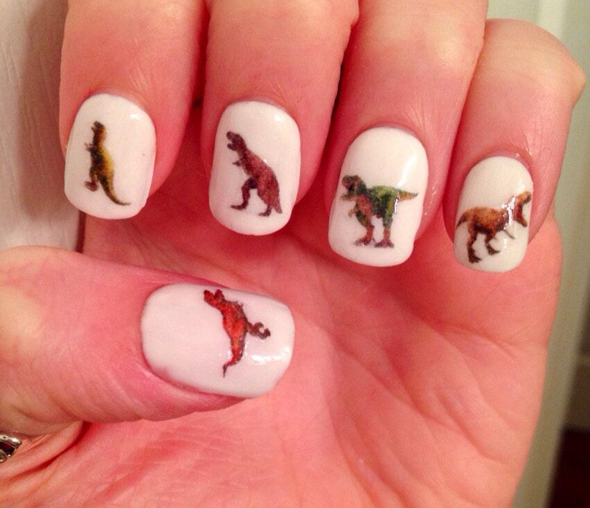 T-Rex Nail Decals
