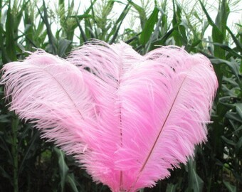 100pcs/lot dust pink ostrich feather plumes for wedding decor feather costumes wedding centerpiece