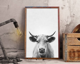 Cow Print, Cow Nursery, Farm Animals Nursery, Cow Printable, Farm Animal Print, Cow Photography, Cow Wall Art Large (W0541)