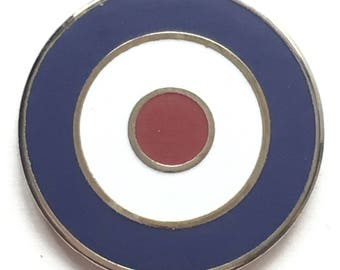 RAF Royal Air Force Target Bullseye Military Enamel Lapel Pin Badge