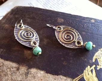 Spiral Shield Earrings