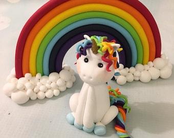 Rainbow Ornament/Topper & Unicorn