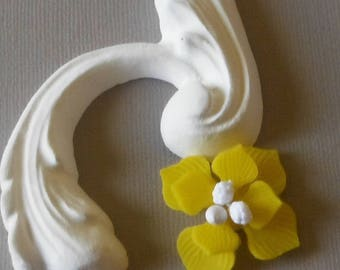 Yellow double flower cold porcelain