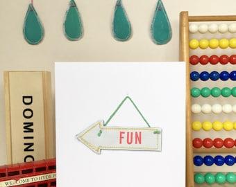 Fun Arrow Card