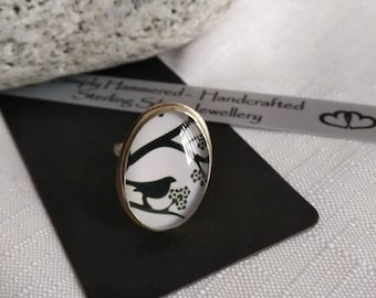 Bird and Blossom Ring