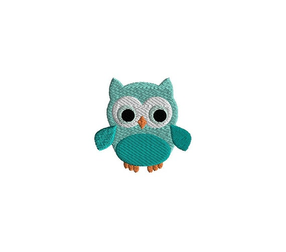 Mini owl machine embroidery design instant download for Embroidery office design version 9