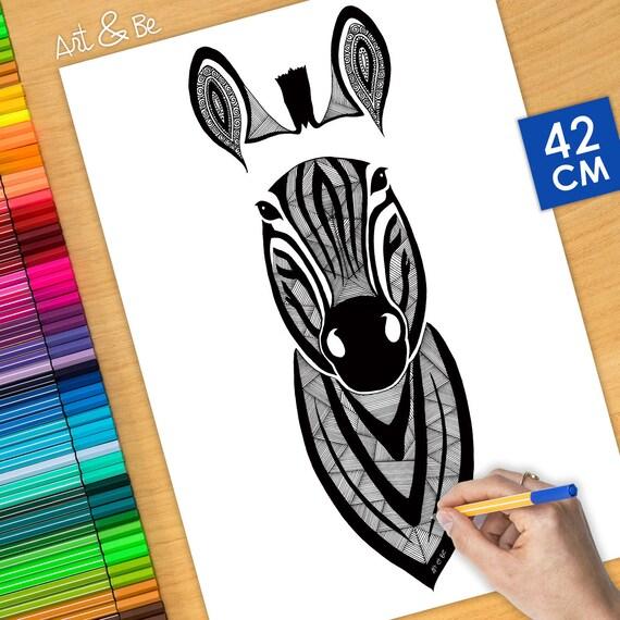 Coloring poster - ZEBRA (...