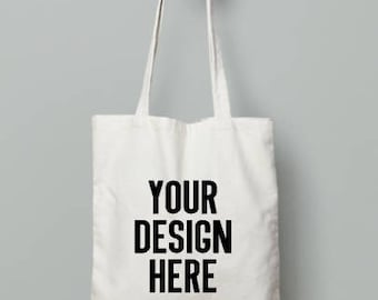 Design your own tote bag | canvas bag | reusable grocery bag | fabric book bag | everyday tote | cloth canvas