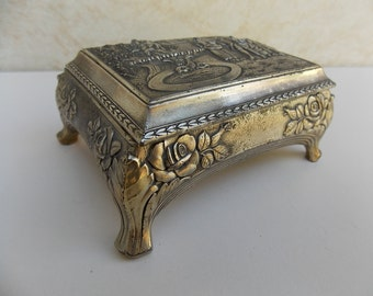Metal jewelry box Etsy