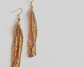 Long Drop Earrings | Tassel Earrings | Boho Earrings | Gift For Her | Statement Earrings | Festival Earrings | Dangle Earrings | Art Deco