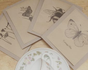 Wildflower seed cards for any occasion x4 nature card collection