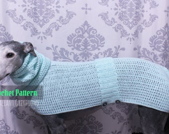 Cozy Pastel Greyhound Sweater Crochet Pattern (PATTERN ONLY)