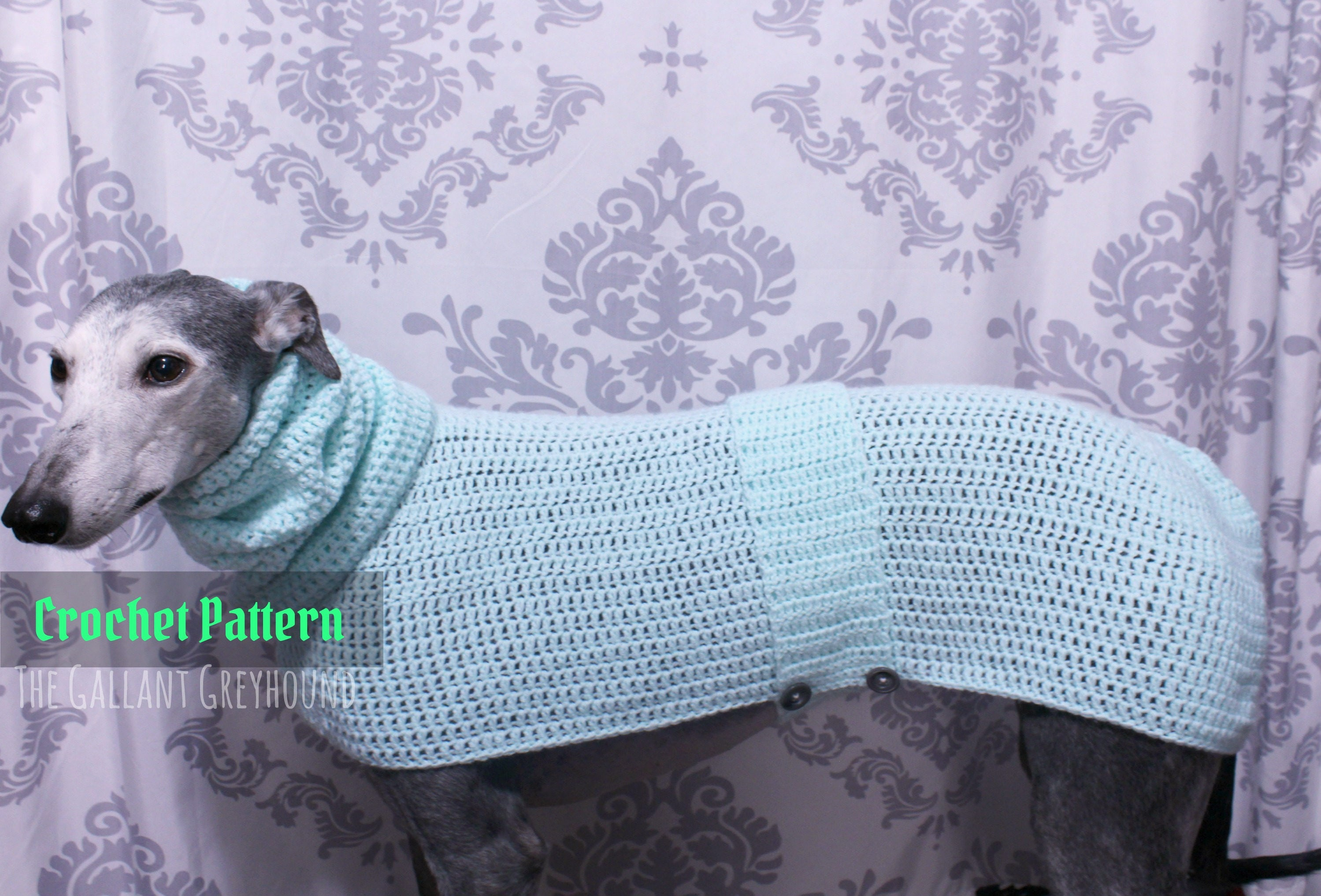 Cozy Pastel Greyhound Sweater Crochet Pattern (PATTERN ONLY) from ...