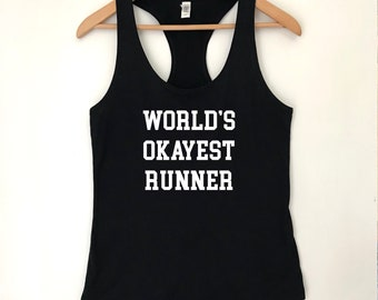 World's Okayest Runner Racerback Ideal Tank