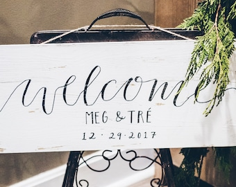 Welcom Wedding Sign, Welcome Wood Board Sign