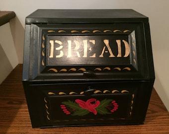 Vintage Slant Top Bread box