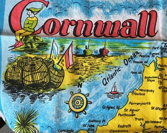 CORNWALL Vintage Linen Cotton Towel - For the Poldark Fan