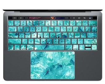MacBook Keyboard Sticker Blue MacBook Decal Watercolor Art MacBook Sticker Keys Key Decals Teal MacBook Skin MacBook Air Pro 13 15 12 KS 103