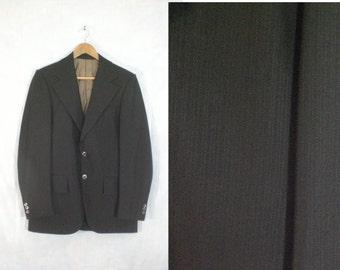 60s travel knit blazer 38R. wrinkle free brown blazer. mens blazer 38R. mens jacket. mens sports coat. travel jacket