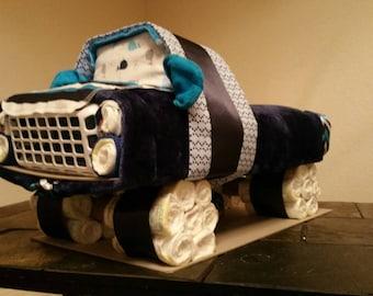 Truck diaper cake