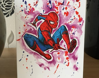Spider-man. Inky Style Greeting Card. A6 PRINT