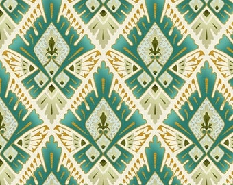 Deco Elegance Diamonds by Jason Yenter 5JYE 2M Metallic Art Deco Fabric for In The Beginning Fabrics - 100% Cotton Fabric