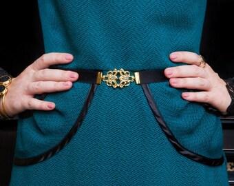 Skinny Belt - Waist Belt - Gold Belt - Bridesmaid Belt - Bridesmaid Accessories - Dress Belt - Stretch Belt - Elastic Belt