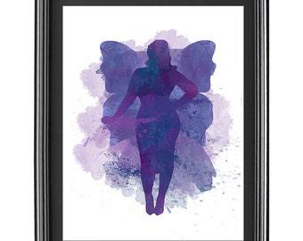 Digital Water Color Fairy Print