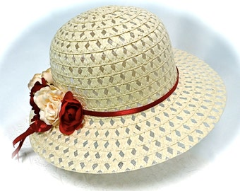 Girls Easter Sunbonnets Tea Party Hat Flower Girl Hats GH-137