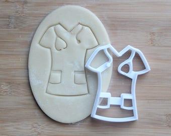 Medical Scrubs Cookie Cutter 3D Printed | Nurse Cookie Cutter / Nurse Appreciation Week / EMT Cookie Cutter / Hospital Cookie Cutter
