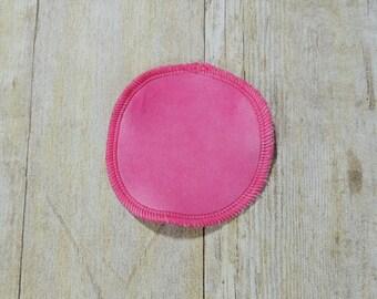 Bubble Gum Pink Cotton Velour Makeup Remover Pads- Set of 5 - Face Cloth - Face Scrubbie