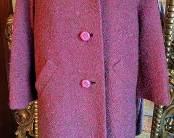 Beautiful 1950's R.H. Stearns Co. Sycamore Boucle Wool Coat