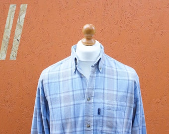 Vintage Checked Flannel Long Sleeved Shirt Size - Large