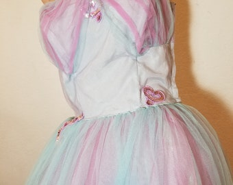FREE  SHIPPING   1950  Tulle  Strapless  Party   Dress