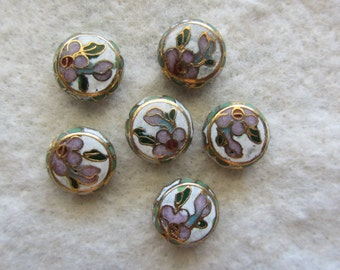 Vintage Cloisonne Beads 10 beads
