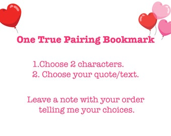 One True Pairing Bookmarks