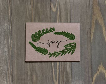 Joy, Pack of 10, Christmas Cards, Christmas Stationary, Set of Cards, Xmas Cards, Festive Cards, Holiday Cards, A2 cards