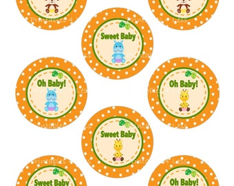 Safari Cupcake Topper, Jungle Cupcake Topper, Jungle Cupcake Wrappers, Safari Cupcake Wrappers, DIY Zoo Animal Toppers -By Printables 4 Less