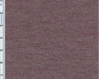 Wine Marled Slub Jersey Knit, Fabric By The Yard