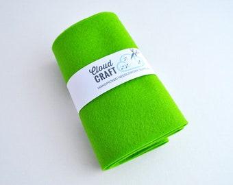 100% Wool Felt Roll - 12x90cm -'Lawn'- Limited edition colour - green wool felt -