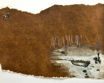 watercolor with fallen tree