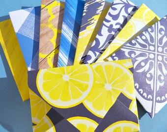 Gift Card Envelopes Set of 10 Enclosure Cards Navy Blue Yellow Patterned Envelopes Favors Gift Card Envelopes