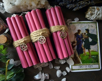Pink  candles - Set of candles