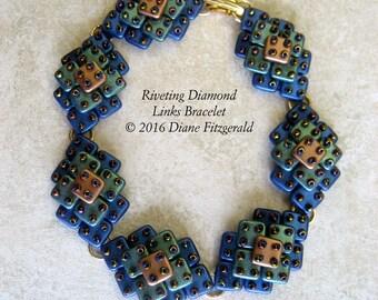 Riveting Diamond Links Bracelet Tutorial