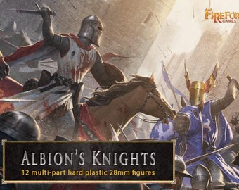 28mm Deus Vult: Albion's Knights (12 mounted plastic figures) - Fireforge Games