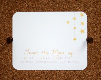 Set of 10 / From the Mom of Notecards / Stationery / Stars